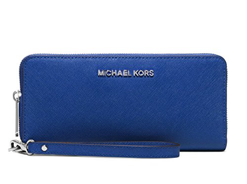 Michael Kors Jet Set Travel Continental Wallet Wristlet - Electric Blue by Michael Michael Kors (Image #4)