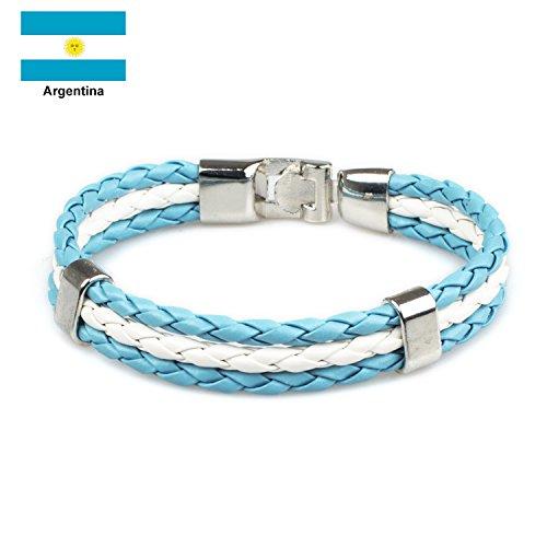 National Flag Unisex Hand Woven Bracelet Sport Wristband For World Cup 8.66