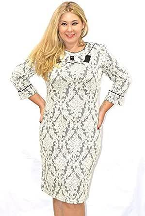 Modis Fashion Women's Dress Model 772 70 (white, Eu 48)