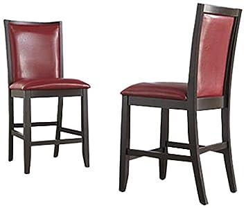 Ashley Furniture Signature Design Trishelle Upholstered Barstool, Red, Set  Of 2