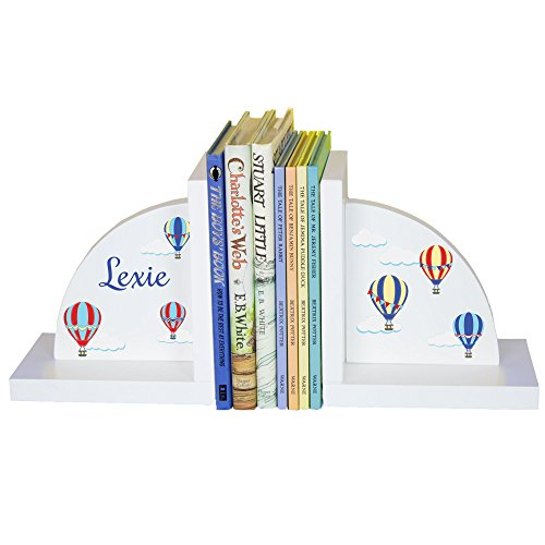 Personalized Bookends (Children's Bookends Hot Air Balloons)