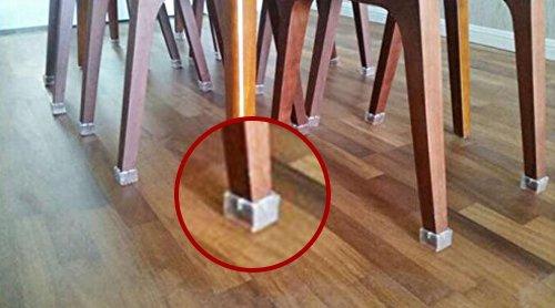LimBridge Chair Leg Wood Floor Protectors, Chair Feet