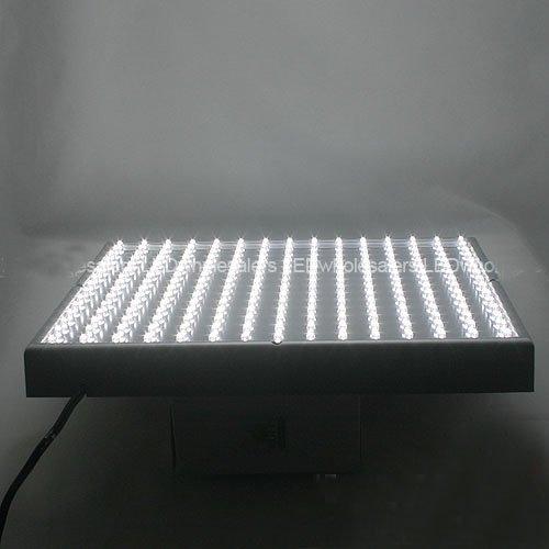 LEDwholesalers 2501WH White 225 LED 13.8 Watt Square Grow Light Panel 110 Volt