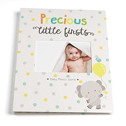 Baby Memory Book for First Five Years, Record Your Child's Development in a Keepsake Journal, For Boys and Girls, Modern Photo Album and Baby Shower Guestbook, 9 Inch x 11.5 Inch Cover