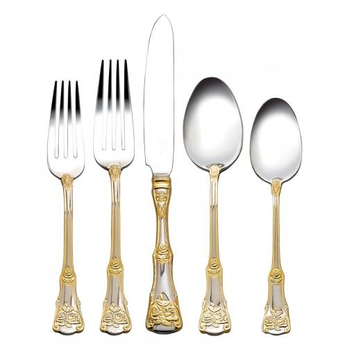 Old Country Roses 20-Piece Flatware - Country Royal Doulton Old Roses