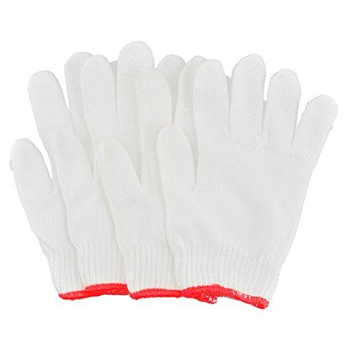 uxcell Cotton Blends Carpenter Electrician Stretch Cuff Working Gloves 4 Pcs -