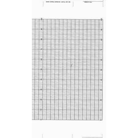GRAPHIC CONTROLS YOK B9627RY Strip Chart Fanfold Range 0 to 100 99 Ft