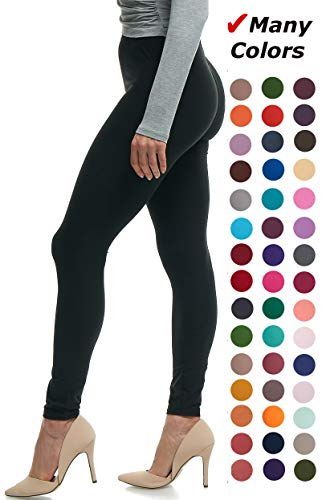 - Lush Moda Black Buttery Soft Leggings - Variety of Colors - Black, One Size