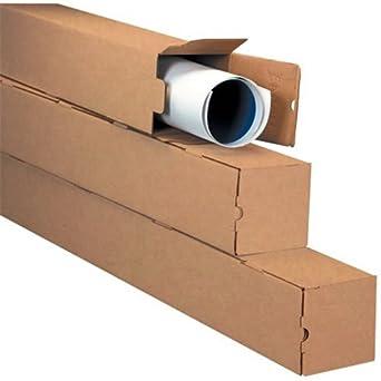 5 x 5 x 18 Kraft Square Mailing Tubes