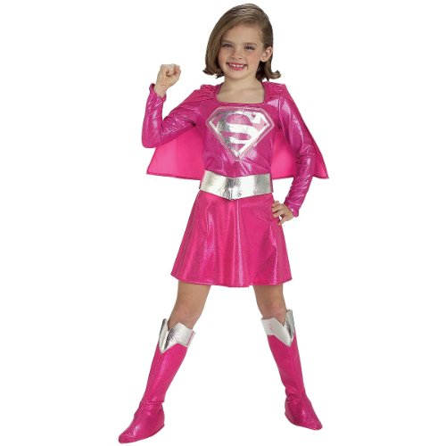 Girls Pink Supergirl Costumes (Supergirl Child Costume - Toddler)