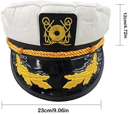 Kindlyperson Gorra del capitán de la Marina de Guerra para Mujer ...