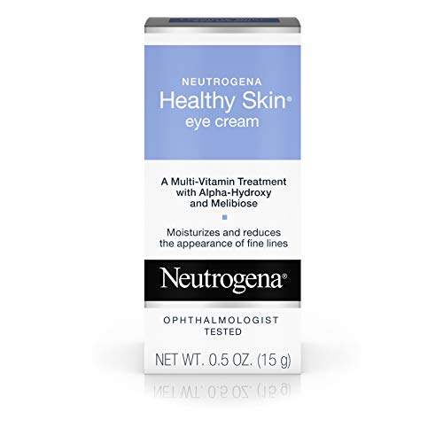Neutrogena Healthy Skin Eye Firming Cream with Alpha Hydroxy Acid, Vitamin A & Vitamin B5 - Eye Cream for Wrinkles with Glycerin, Glycolic Acid, Alpha Hydroxy, Vitamin A, Vitamin B5, Vitamin C, 0.5 oz (Best Eye Cream For Thin Crepey Skin)