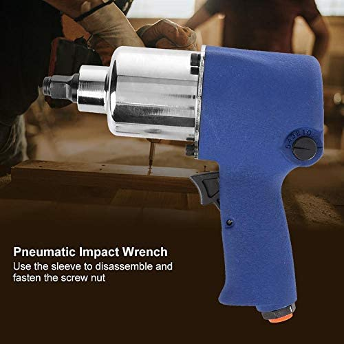 KOPO Pneumatic Wrench, KP-506 Industrial Grade Pneumatic Impact Wrench 8500rpm High Speed Fixed Tool Industrial Grade Small Wind Gun Pneumatic Tool
