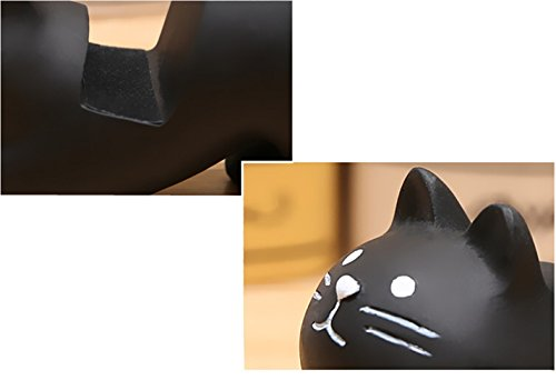Cell Phone Stands, Desktop Polyresin Adorable Animal Smartphone Holder (Black Cat ),Creative Universal Ipad Tablet Stand Mounts,Home Decor Ideal Gift.
