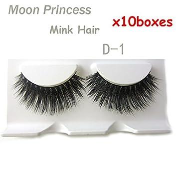 d036aff8fb3 Amazon.com : D-1 10 boxes/lot Wholesale 100% Real Mink Natural Thick Long  Cross Soft False eyelashes fake eye lashes makeup : Beauty