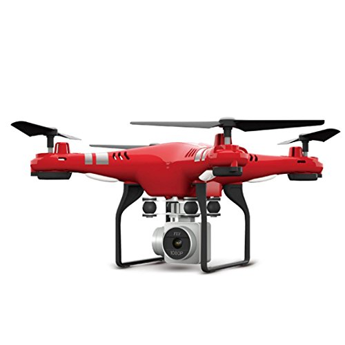 Price comparison product image Leewa@ 2.4G Altitude Hold HD Camera RC Drone,  2MP WiFi FPV Live Quadcopter Hover (Red)