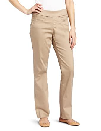 Lee Women's Natural Fit Pull On Barely Bootcut Pant, Caramel, 4