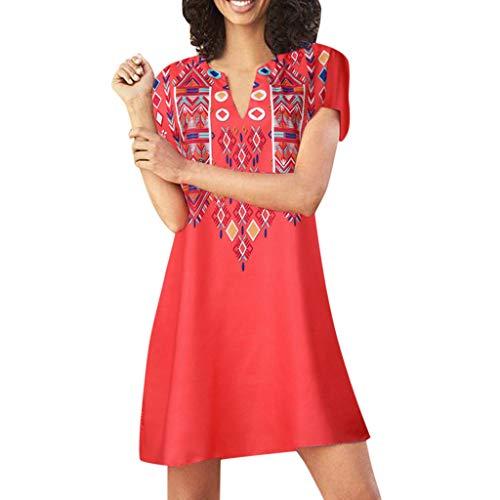 ONLY TOP Women Beach Dress Fashion Summer Bohemia Tassel Casual Mini Dress Evening Party T-Shirt Loose Dresses Red
