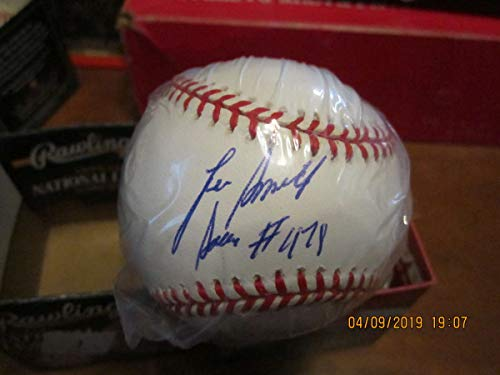 Lee Smith #478 Single Signed Baseball plastic bag white