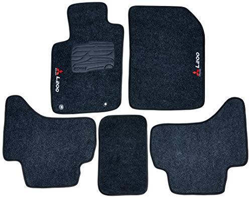 Kit de 5 peças, Tapete Carpete, Flash Acessórios, L200 Grafite (05 Peças)