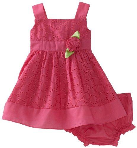 Sweet Heart Rose Pink Baby Toddler Girls Infant Sleeveless Sundress Set (18 Months)
