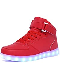 7e6df430be9770 Women Men Dance High Top LED Light Up Shoes Flashing Sport Sneakers