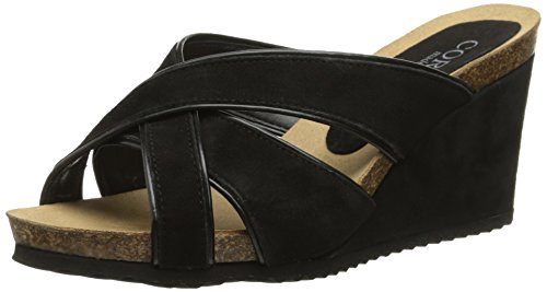 Cordani Women's Avery Wedge Sandal - Black - 37 M EU / 6....