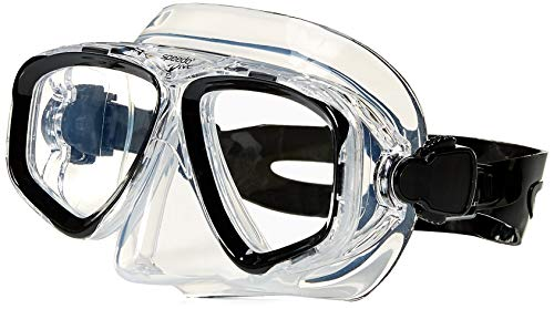 (Speedo Adult Recreation Dive Mask, Black/Black, 1SZ)