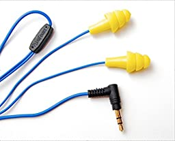 Plugfones Ear Plugs / Earbuds - 1st Generation (Yellow)