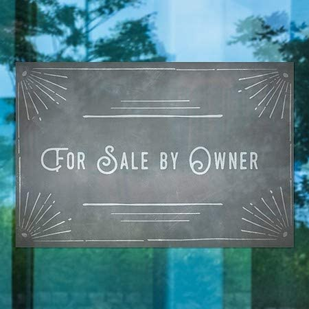 5-Pack Chalk Corner Window Cling CGSignLab for Sale by Owner 27x18