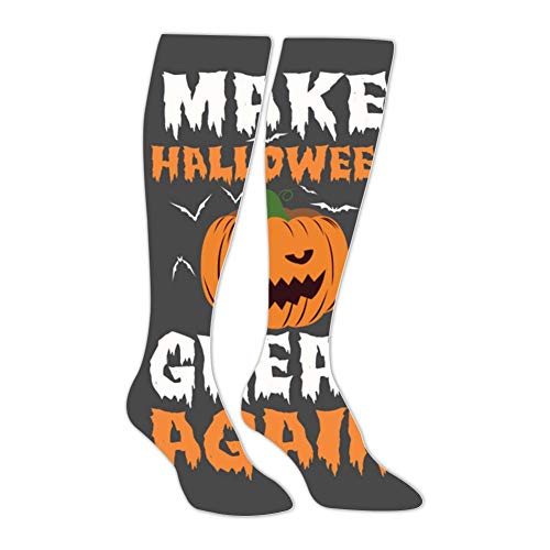 Knee High Stockings Make Halloween Great Again Long Socks Sports Athletic for Man and Women -