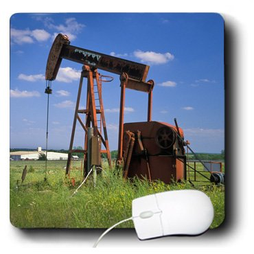 3dRose LLC 8 X 8 X 0.25 Inches industry, Oil Rig on Osage Indian Reservation Angel Wynn Mouse Pad - Osage Pictures