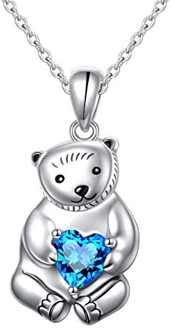 YinShan 925 Sterling Silver Heart Animal Pendant Necklace Jewelry for Women
