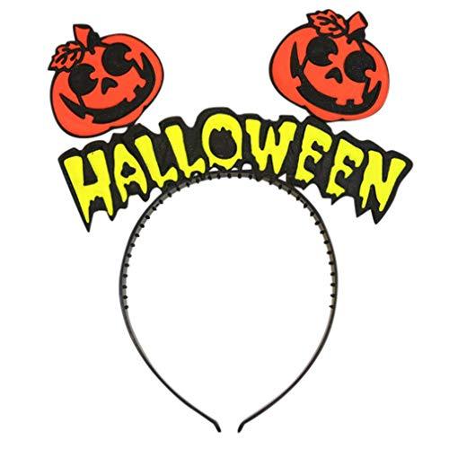 (Clearance Sale! Baby Halloween Headband for Boys Girls, Iuhan Happy Halloween Pumpkin Face Ghost Bat Hats Hairband Headwear Photography Props Gifts)