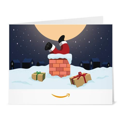 Santa In Chimney gift card to print at home link image