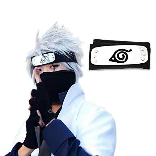 (Atenia Naruto Cosplay Headband, Naruto Costume Leaf Village Ninja Headband Kakashi)