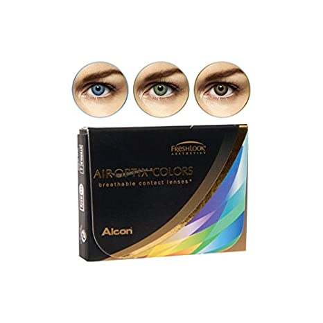 5147dcc195 Air Optix Aqua Color 10096022 Lentes de Contacto, R 8.6, D 14.2, Dioptría  0, Color Verde - 2 Unidades: Amazon.es: Salud y cuidado personal