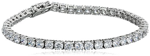Platinum Plated Sterling Zirconia Bracelet