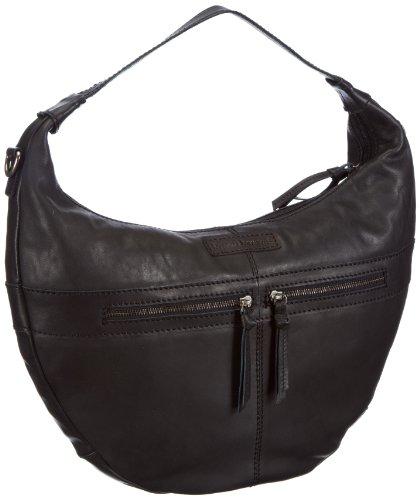 Bruno Banani Bicolour_4 - Bolso de hombro de cuero mujer negro - negro