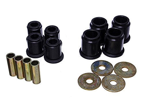 Energy Suspension 8.3132G Control Arm Bushing Set Black Front Performance Polyurethane Control Arm Bushing Set