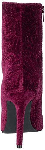 Bianco Damen Samt Stiletto Bootie Stiefel Rot (Winered)
