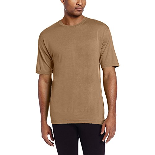 35a8558e Minus33 Merino Wool Clothing Men's Algonquin Lightweight Short Sleeve Crew T -Shirt, Large, Desert Sand - Buy Online in Oman. | Apparel Products in Oman  ...