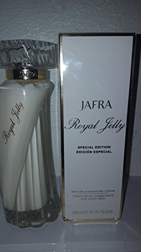 ( Jafra Royal Jelly Milk Balm Lotion 6.7 Fl. Oz. Original Formula. Special Glass Bottle 35 Years Anniversary Edition)