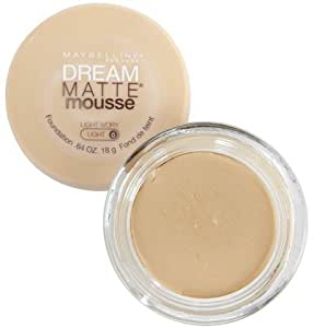 Maybelline Dream Matte Mousse Foundation, Light Ivory, Light 0 .64 oz (18 g)