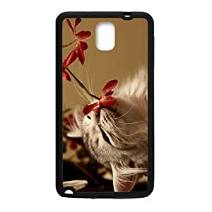 Cate Cat Smelling Flower Phone Case for Samsung Galaxy Note4