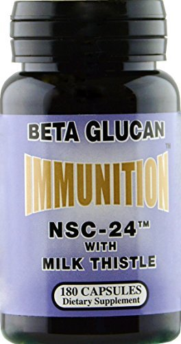 Beta Glucan 180 Capsules - IMMUNITION NSC Milk Thistle with MG Beta Glucan 180 capsules by NSC-24 IMMUNITION