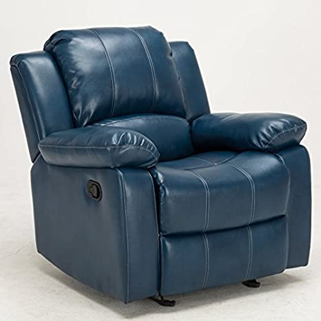 Marvelous Comfort Pointe Clifton Navy Blue Leather Gel Recliner Gmtry Best Dining Table And Chair Ideas Images Gmtryco