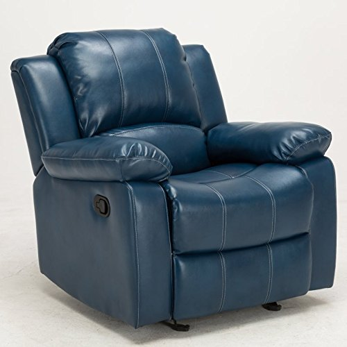Comfort Pointe Clifton Navy Blue Leather Gel Recliner (Chair Blue Recliner Navy)