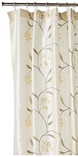 "CROSCILL Penelope Shower Curtain - Content: 100% Polyester Care: Hand Wash Dimensions: 72"" X 75"" - shower-curtains, bathroom-linens, bathroom - 41LwFw7NXmL -"