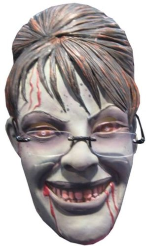 Sarah Palin Rogue Zombie Mask - Product Description - This Zombie Wants Your Vote In 2012. All Latex, 3/4 Sized Mask With Glasses. (Palin Rogue Zombie)
